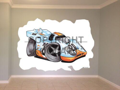 Huge Koolart Cartoon Porsche 917 Le Mans Wall Sticker Poster Mural 3084