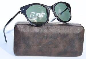 10e40f5326f0 Image is loading SPY-OPTICS-Mulholland-Sunglasses-Black-Happy-Grey-Green-