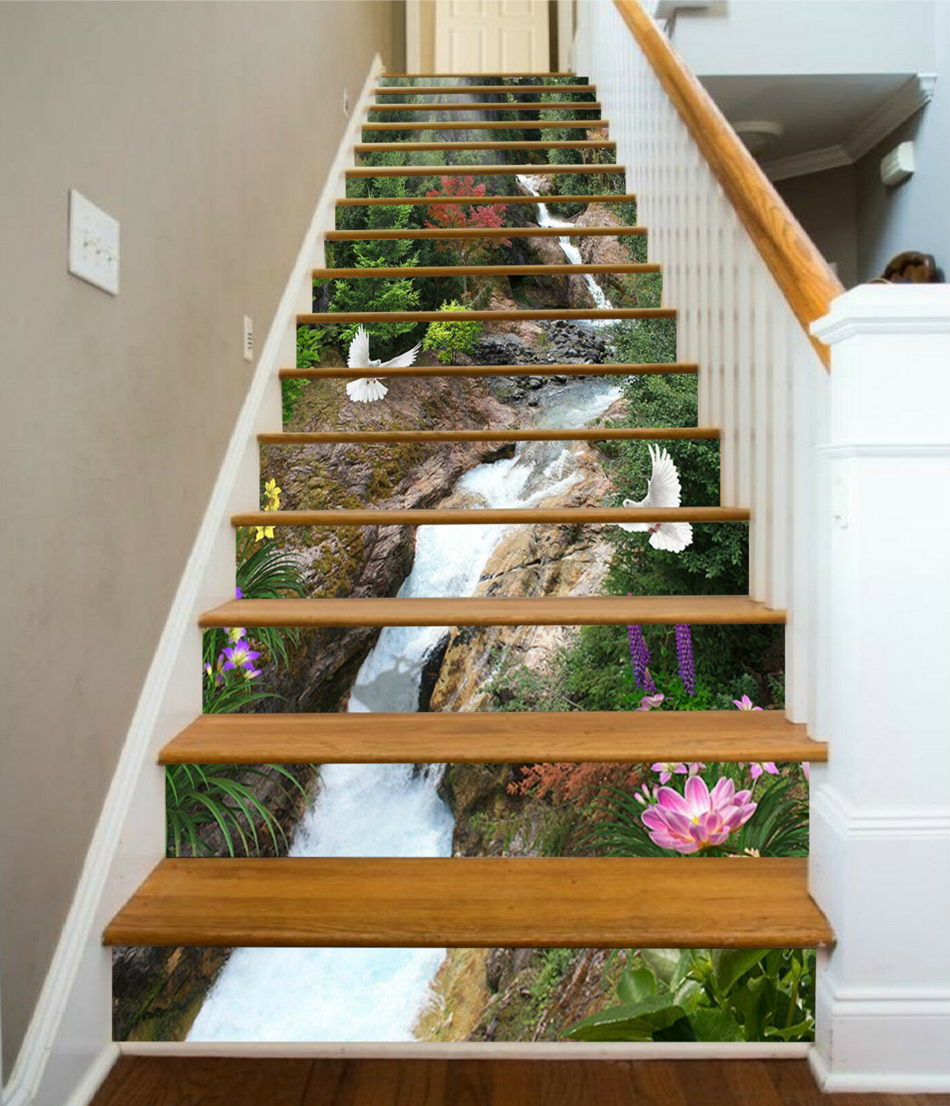 3D Strom Taube 1137 Stair Risers Dekoration Fototapete Vinyl Aufkleber Tapete DE