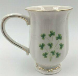 Irish-Shamrock-Spray-Scalloped-Footed-Coffee-Tea-Cup-Mug