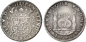 1741-Espanol-Moneda-De-Plata-Felipe-V-8-Reales-Ss-289-1111