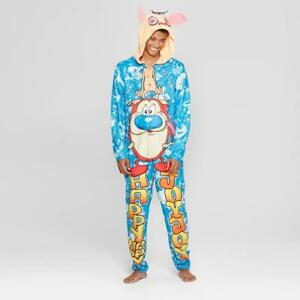 Image Is Loading Ren Amp Stimpy Themed Union Suit One Piece
