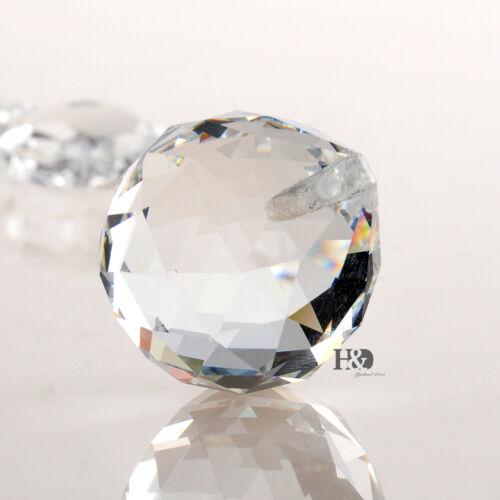 5 Clear Crystal Chandelier Ball Prisms Suncatcher for Feng Shui Home Decor 30mm