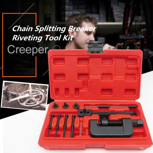 Professional Bike Motorcycle Chain Splitter Breaker Link Rivet Riveter Tool Kit