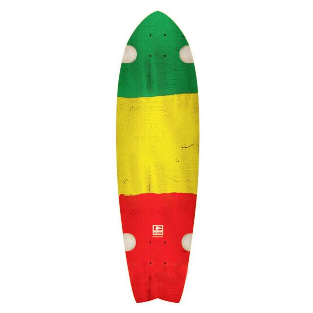 "Globe Cruiser Skateboard Deck CHROMANTIC RASTA 10/"" x 33/"""