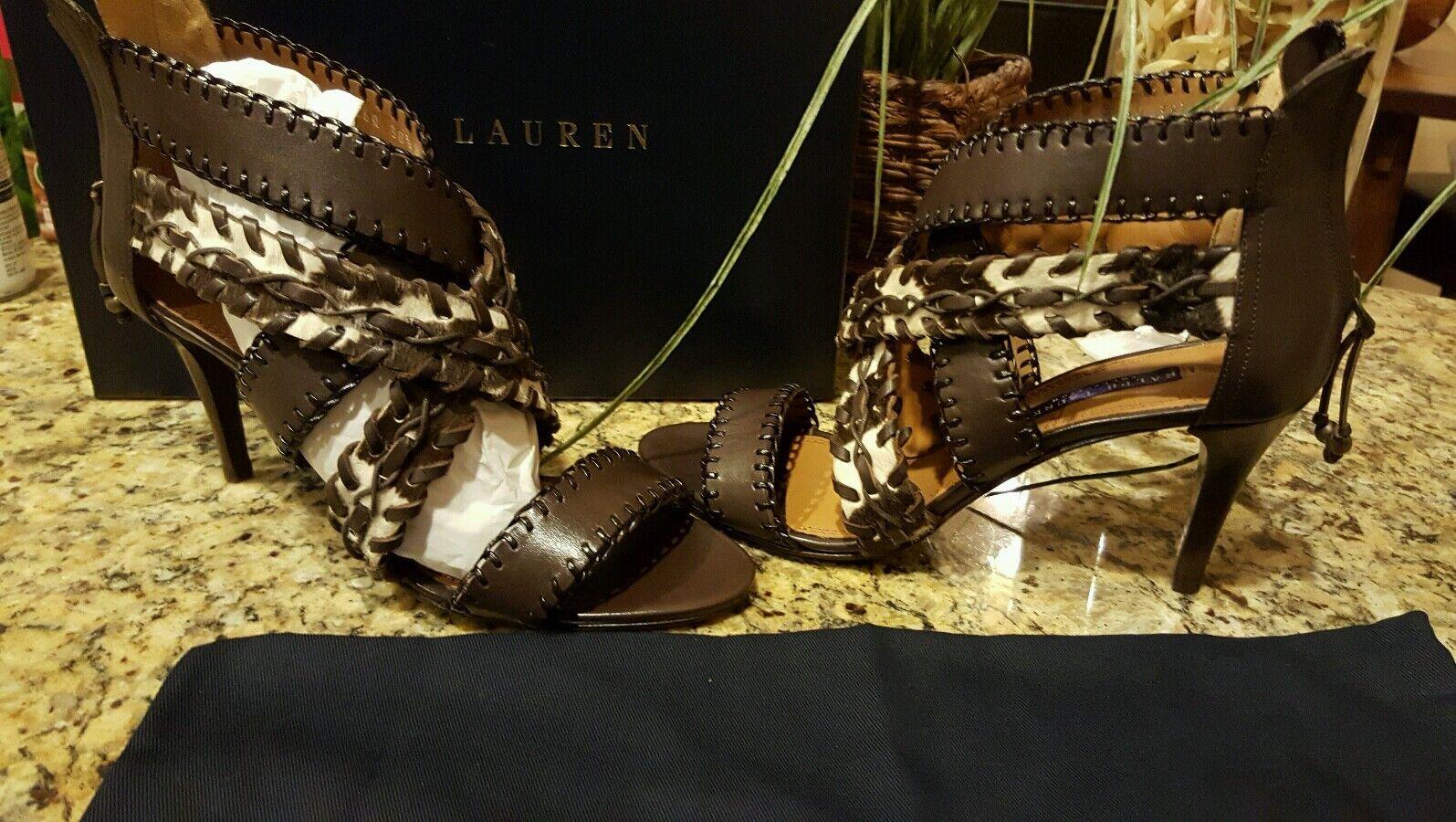 negozio fa acquisti e vendite Ralph Lauren viola Label donna Ardina Zebra Hair Sandals Sz Sz Sz 38.5 THESPOT917  punti vendita