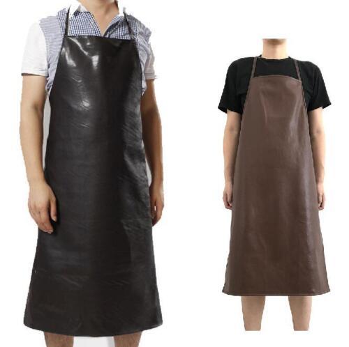 Leather Apron Waterproof Anti-Oil Restaurant Cooking Chef Bib Kitchen Gardening