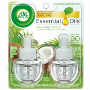 Air-Wick-Plug-In-Scented-Oil-2-Refills-Coconut-Splash-2X0-67Oz-Essential-Oi