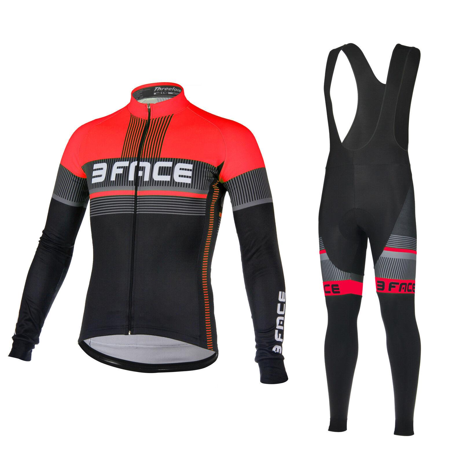Tuta da mezza stagione bici ciclismo termica traspirante Deal maglia+calzamaglia