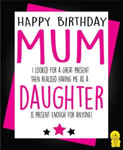 Brilliant Funny Rude Birthday Card Mum Present Daughter C247 Ebay Personalised Birthday Cards Bromeletsinfo