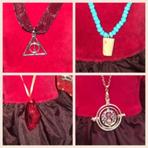 AMERICAN GIRL SIZE HARRY POTTER INSP BUTTERBEER ETC NECKLACES DEATHLY HALLOWS