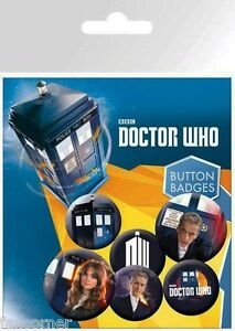 Dr-WHo-blister-badges-officiels-Doctor-WHO-official-button-badges