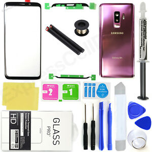 For-Samsung-Galaxy-S9-Plus-G965-Purple-Front-Screen-Glass-Back-Replacement-Kit