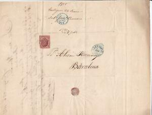 Spain 19th centuary stamps cover Ref 8409