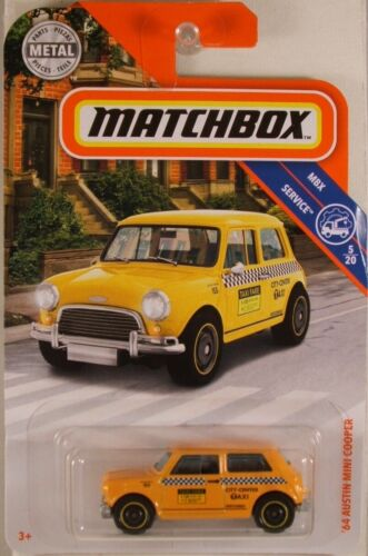 MATCHBOX #96 /'64 Austin Mini Cooper Taxi NEW in BLISTERPACK 2019 issue