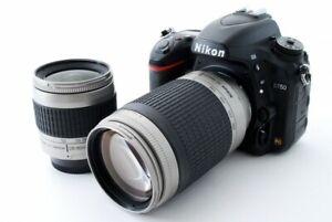 NIKON D750 24.3MP 28-80/70-300mm Lens Set [Exc+++] w/8GB SD Card,Strap [756]
