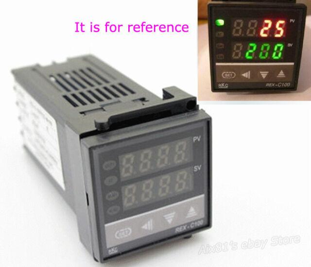 Dual Digital F/C PID Temperature Control Controller Thermocouple REX-C100 AC220V