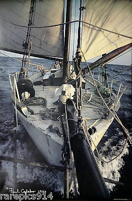 Sailing A Colin Archer Off Maine By Paul Calabro Original 1983 Photo Lithograph