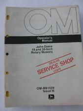John Deere Operators Manual 18 Amp 20 In Rotary Mowers I6