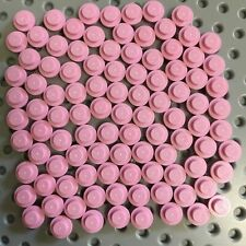 Lego Lot of 100 New 1 x 1 Pink  Round Plates