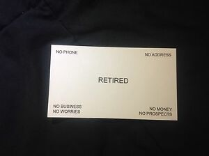 Retirement Business Cards 3 Pack Ships Same Day Made In