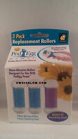 Ped Egg Power Replacement Rollers 3 Pack (for Callus Remover) As Seen On Tv