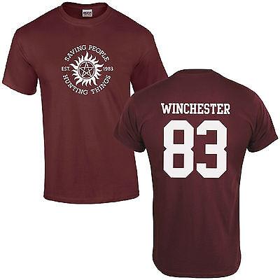 Supernatural Wayward Bros Sam Dean Hunting Things printed t-shirt FN9263