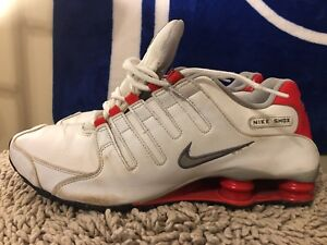 b3317651033faa Image is loading Nike-Shox-NZ-378341-150-Red-White-Men-