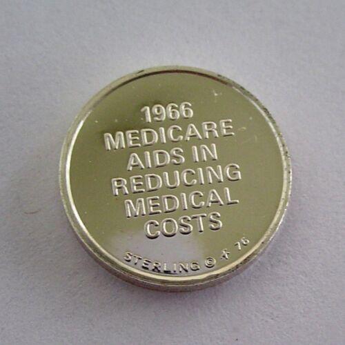 Medicare 1966 Nursing Franklin Mint  Sterling Silver Mini-Ingot Health