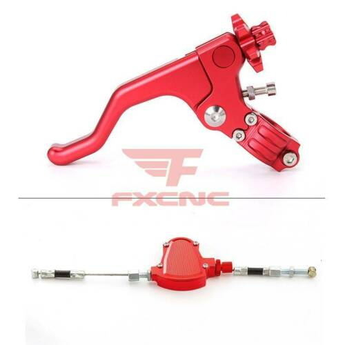 For CNC Universal Motorcycle Stunt Clutch Pull Cable Lever Easy System Dirt Bike