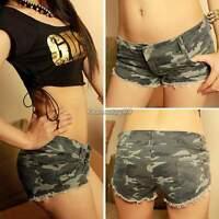 Womens Ladies Girls Hot Pants Capri Low Waist Mini Shorts Jeans Denim Trousers