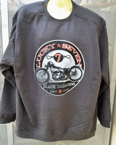 Chopper,Sweatshirt mit einer Harley,5XL,Biker,Übergrösse,Plus Size,Pullover