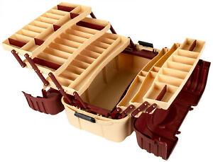 Fishing Tackle Box Bait Storage Case 7 Tray Plano Lures Hip Organizer Roof Hooks