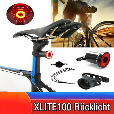 XLite100 Waterproof Bicycle Smart Brake Sense USB MTB Bike LED Rear Tail Light