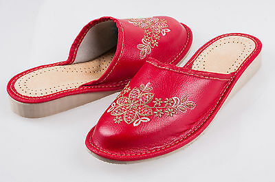 Linea donna 100/% Eco Pelle Infilare Sandali Pantofole Donna Mule Beach Brown /& Cream