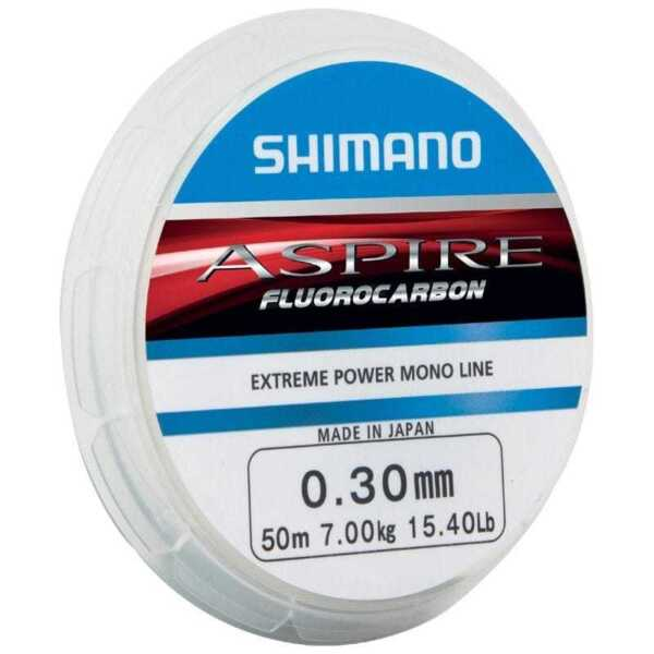 Fluorocarbon Made in Japan NEW m 0,16€ Shimano Aspire Fluocarbon 50m 0,14mm