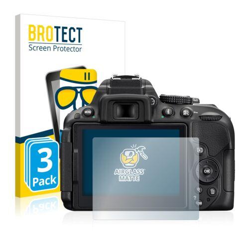 3x protección lámina de vidrio Nikon d5300 Matt de vidrios de seguridad antirreflejos
