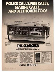 1976-The-Searcher-GE-Tunable-Scanning-Radio-Police-Scanner-Model-7-2995-Print-Ad