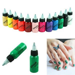 Ophir 30mlcan Airbrush Nail Ink For Nail Art Paint Air Compressor