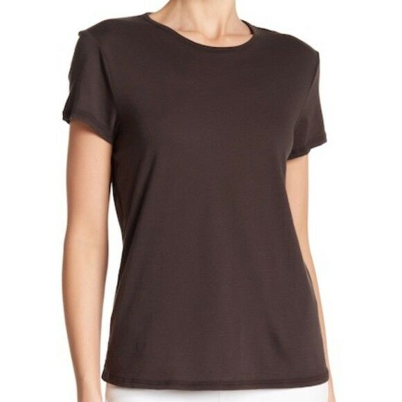 NWT James Perse Zig Zag Stitch Crew Tee Carbon Size 1 Small