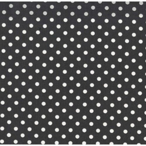 Michael Miller Polka Dumb Dot Charcoal Fabric BHY