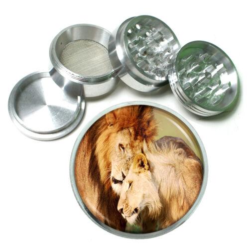 Lion Aluminum Grinder D2 63mm 4 Piece Wild Animal Africa King of the Jungle Big