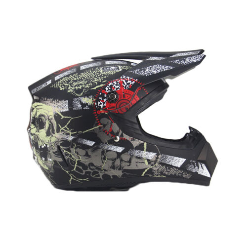 Motorcycle Motocross Off-road DOT Helmets+Goggles+Gloves Protector Gear S-XL PGS