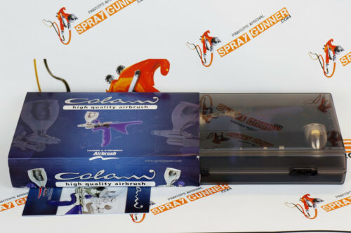 Harder and Steenbeck COLANI 0.4mm Airbrush with Sparmax Coiled Air Hose