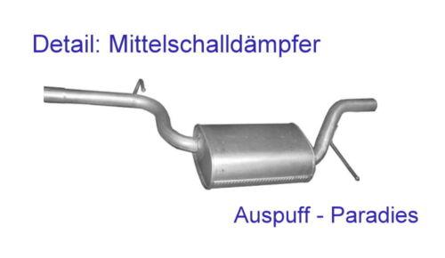 Abgasanlage Auspuff für VW Passat CC 1.8 TSi Typ 357 118KW//160PS ab 06//2008 Kit