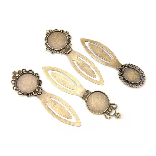 20Mm Round Cabochon Antique Bronze Bookmark Tray Settings Supplies s//