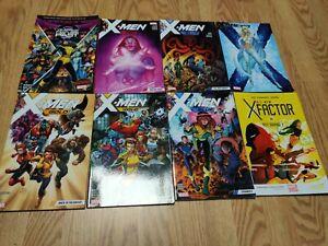 Marvel Graphic Novel Lot Of 8 X-Men Gold Blue Red Black Warzones Great Shape