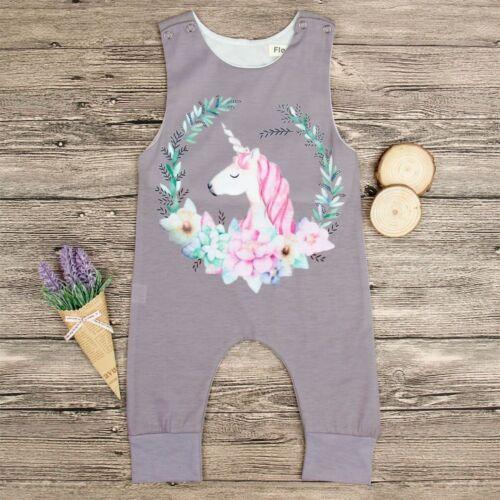 Baby Unisex Unicorn Dinosaur Cactus Romper Sleeveless Summer Jumpsuit Bodysuit N