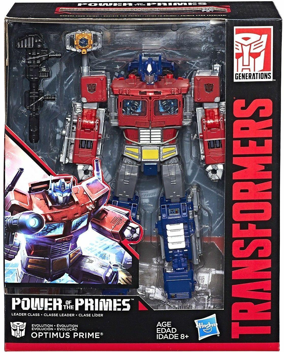 Nuevos Transformers de potencia del modelo PRIMES Leader Class Optimus Prime Figura De Acción