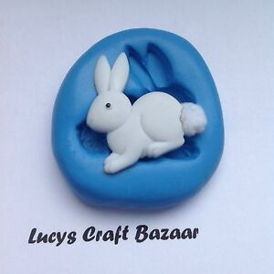 Silicone-Mould-Spring-Easter-Bunny-Rabbit-2-Sugarcraft-Cupcake-Topper-Chocolate